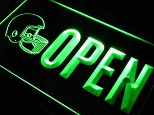 Sporting Goods Football Open Neon Sign (LED)-Way Up Gifts