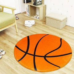 Sports Series Basketball Round Area Rug