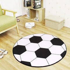 Sports Series Soccer Ball Round Area Rug