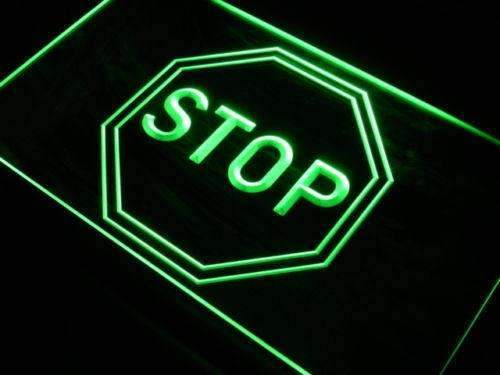 Stop LED Neon Light Sign - Way Up Gifts