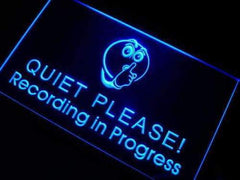 Studio Recording in Progress Quiet Please LED Neon Light Sign