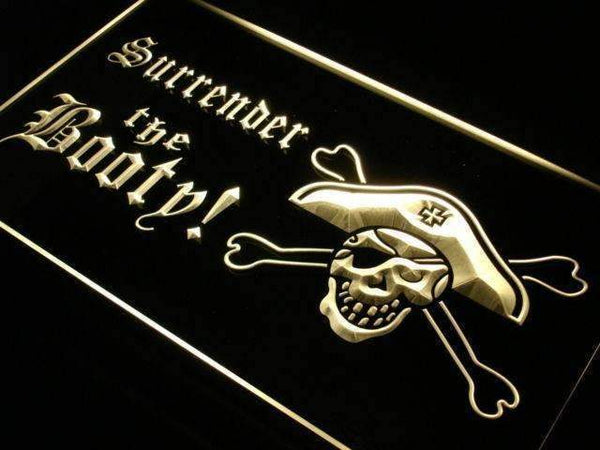 Surrender the Booty Pirate Neon Sign (LED)-Way Up Gifts