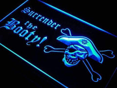Surrender the Booty Pirate LED Neon Light Sign