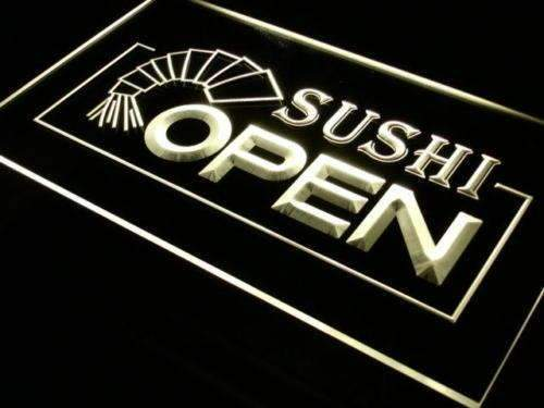 Sushi Open LED Neon Light Sign - Way Up Gifts