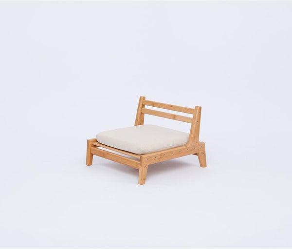Handcrafted Bamboo Meditation Chair w/ Cushion