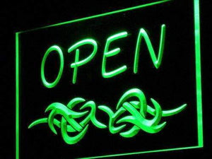 Tattoo Art Open Neon Sign (LED)-Way Up Gifts