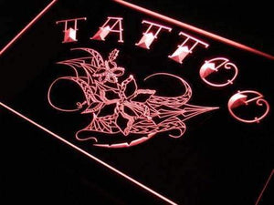 Tattoo Flower Art Neon Sign (LED)-Way Up Gifts