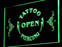Tattoo Piercing Open LED Neon Light Sign