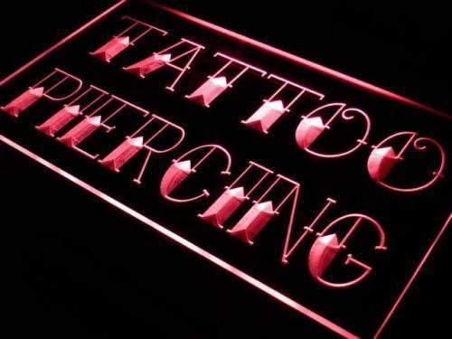 Tattoo Piercing Shop LED Neon Light Sign - Way Up Gifts