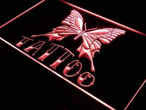 Tattoo Shop Butterfly Neon Sign (LED)-Way Up Gifts