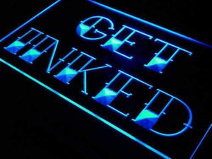 Tattoo Shop Get Inked Neon Sign (LED)-Way Up Gifts