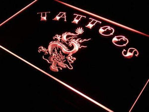 Tattoos Dragon Neon Sign (LED)-Way Up Gifts
