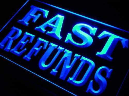Tax Services Fast Refunds LED Neon Light Sign - Way Up Gifts