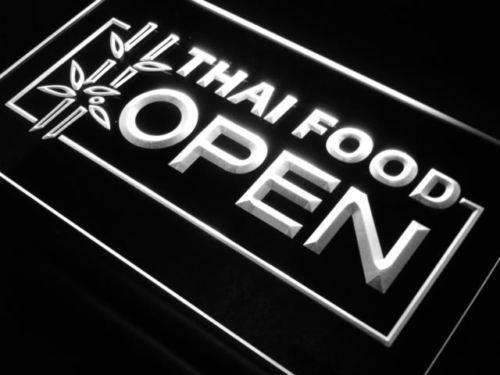 Thai Restaurant Food Open LED Neon Light Sign - Way Up Gifts