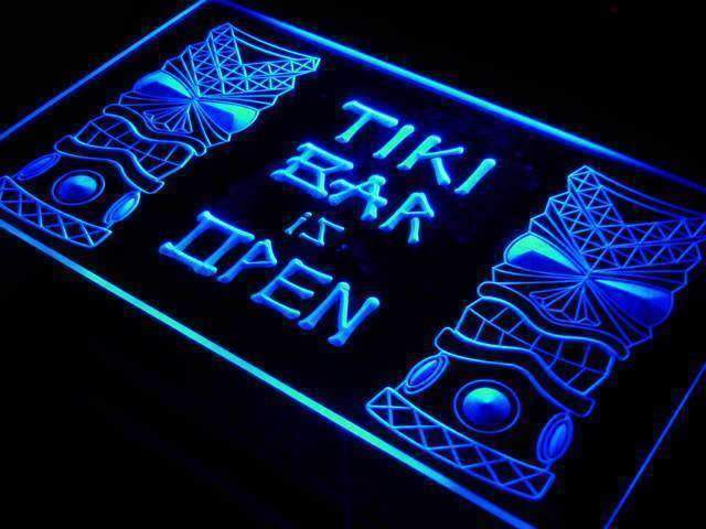 Tiki Bar is Open LED Neon Light Sign - Way Up Gifts