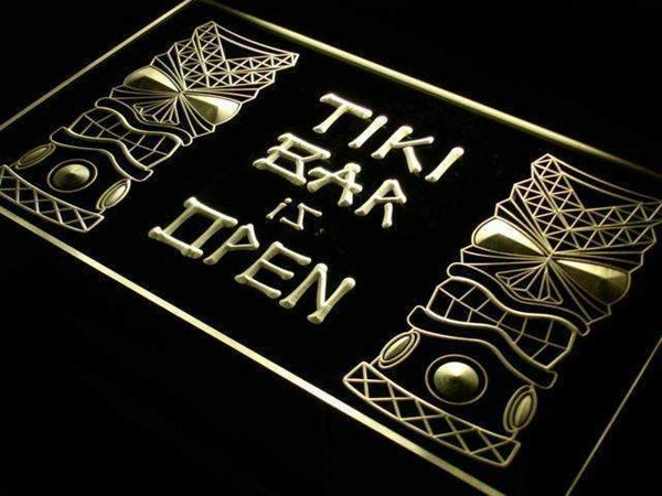 Tiki Bar is Open LED Neon Light Sign  Business > LED Signs > Beer & Bar Neon Signs - Way Up Gifts