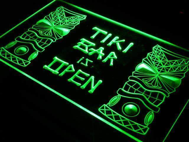 Tiki Bar is Open Neon Sign (LED)