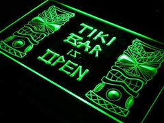 Tiki Bar is Open LED Neon Light Sign
