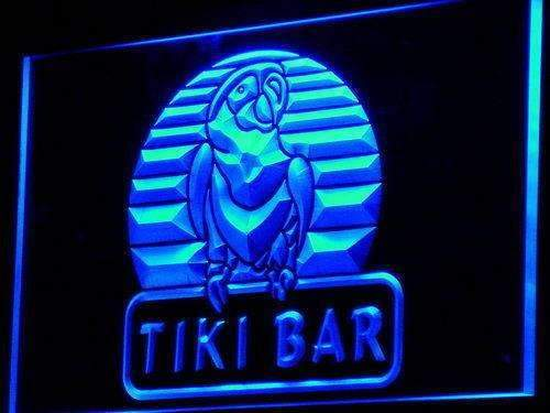 Tiki Bar Parrot II LED Neon Light Sign  Business > LED Signs > Beer & Bar Neon Signs - Way Up Gifts