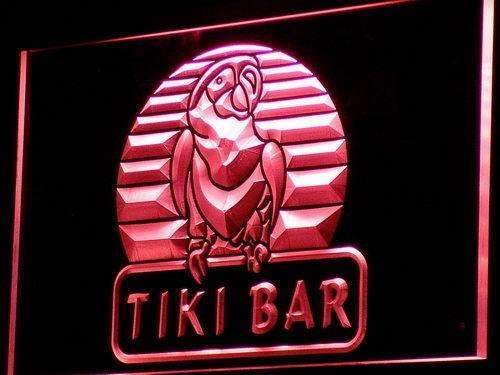 Tiki Bar Parrot II LED Neon Light Sign - Way Up Gifts