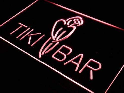 Tiki Bar Parrot LED Neon Light Sign - Way Up Gifts