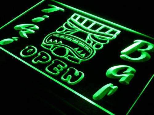 Tiki Mask Bar Open LED Neon Light Sign - Way Up Gifts