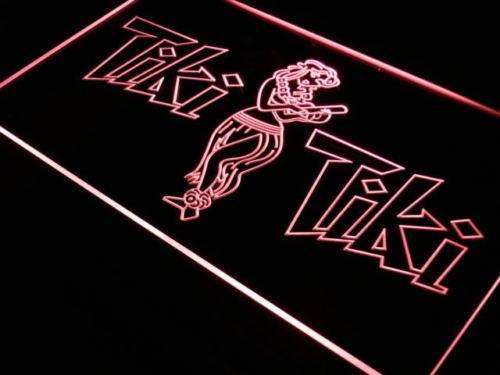 Tiki Tiki Bar Hula Dancer LED Neon Light Sign - Way Up Gifts