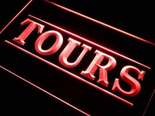 Tours Agency LED Neon Light Sign - Way Up Gifts