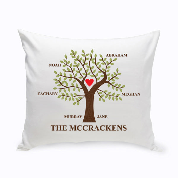 Personalized Family Tree Throw Pillows - Way Up Gifts