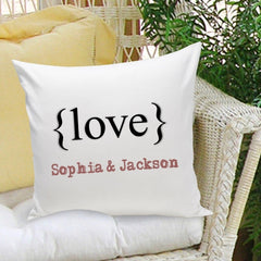 Personalized Typeset {Love} Decorative Throw Pillow