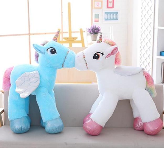 Large Unicorn Stuffed Animal Plush w/ Wings - Way Up Gifts