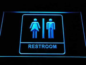 Unisex Washroom Restroom Neon Sign (LED)-Way Up Gifts