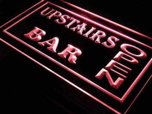 Upstairs Bar Open LED Neon Light Sign - Way Up Gifts