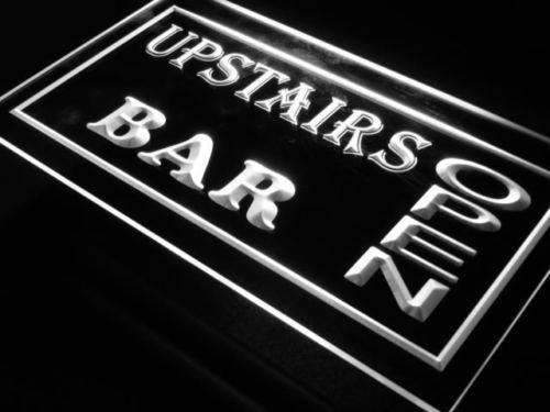 Upstairs Bar Open LED Neon Light Sign  Business > LED Signs > Beer & Bar Neon Signs - Way Up Gifts