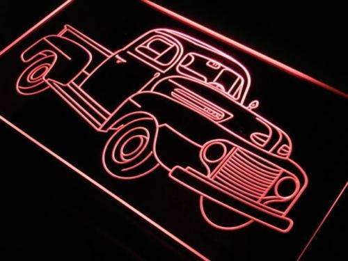 Vintage Truck Collection LED Neon Light Sign - Way Up Gifts