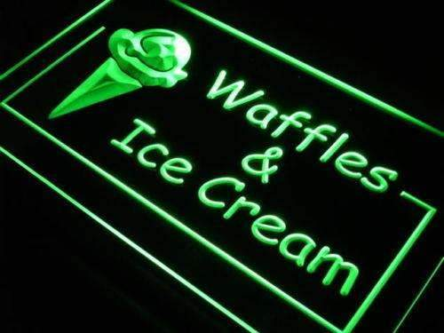 Waffles Ice Cream LED Neon Light Sign - Way Up Gifts