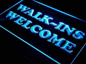 Walk Ins Welcome Neon Sign (LED)-Way Up Gifts