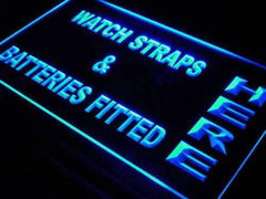 Watch Straps Batteries Fitted LED Neon Light Sign