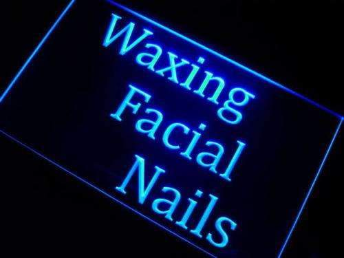 Waxing Facial Nails LED Neon Light Sign  Business > LED Signs > Barber & Salon Neon Signs - Way Up Gifts