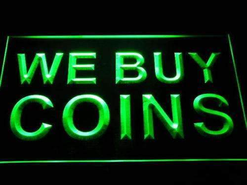 We Buy Coins LED Neon Light Sign - Way Up Gifts