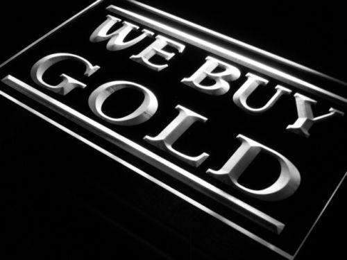 We Buy Gold LED Neon Light Sign - Way Up Gifts