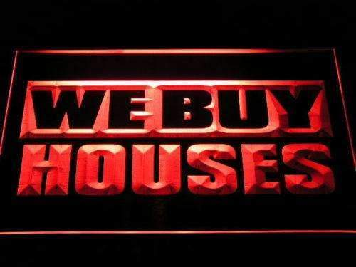 We Buy Houses LED Neon Light Sign - Way Up Gifts