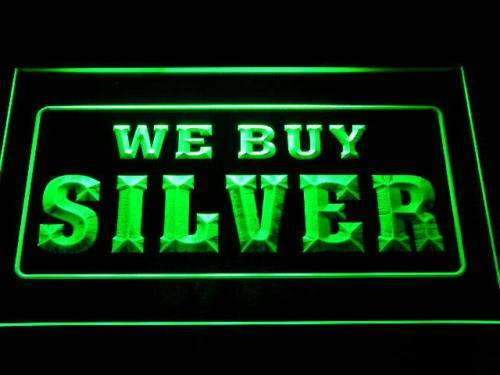 We Buy Silver LED Neon Light Sign - Way Up Gifts