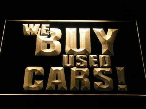 We Buy Used Cars LED Neon Light Sign - Way Up Gifts