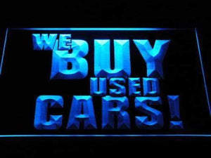 We Buy Used Cars Neon Sign (LED)-Way Up Gifts