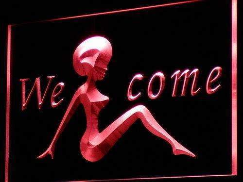 Welcome Night Club LED Neon Light Sign - Way Up Gifts