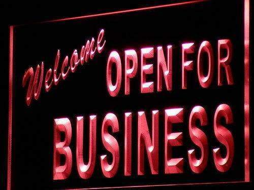 Welcome Open for Business LED Neon Light Sign - Way Up Gifts