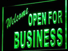 Welcome Open for Business LED Neon Light Sign