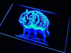 Wild Boar II LED Neon Light Sign
