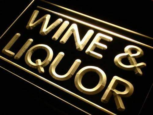 Wine Liquor LED Neon Light Sign - Way Up Gifts